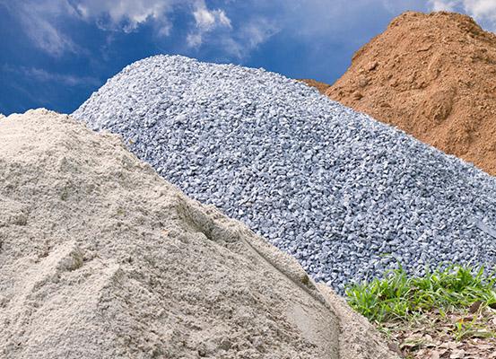 dirt sand rock
